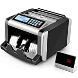 SIMBR Money Counter Machine with UV/MG/IR Counterfeit Detection, Bill Counting Machine with Add & Batch Modes, LCD Display, 1,000 Bills/Min, Real Money Counting
