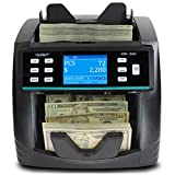 KBR-1500 Bank Grade Mixed Denomination Money Counter Machine, Sorter and Value Reader with Advanced Counterfeit Detection (UV/MG/MT/IR/2CIS), Multi-Currency (USD/CAD/MXN), Printing Enabled