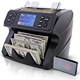 DETECK SPARK Mixed Denomination Money Value Counter Machine 2 Yr Warranty Pro Grade Money Counting Machine with Advanced Multi-Currency Counterfeit Detection (2CIS/UV/IR/MG/MT) for Small Business Bank